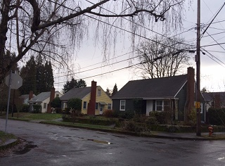 Houses in the Woodstock neighborhood in Portland